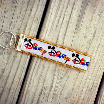 Disney Inspired Logo Key Chain/Key Fob