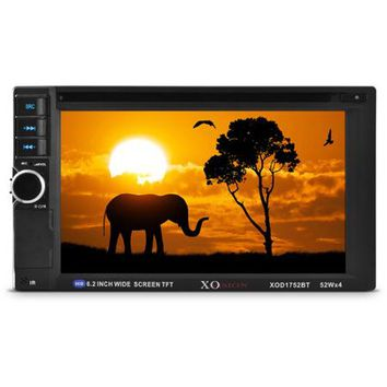 "XO Vision XOD1752BT In-Dash 6.2"" Touch Screen Multimedia DVD Receiver with Bluetooth - Walmart.com"