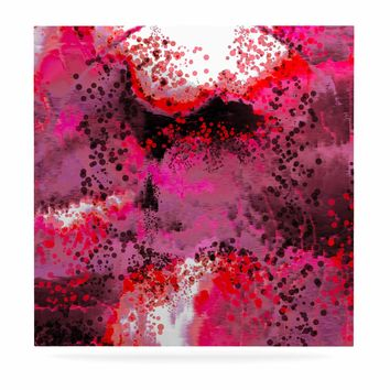 "Nina May ""Pink Fizz"" Pink Red Digital Luxe Square Panel"