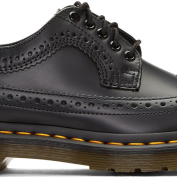 Black 3989 Wingtip Brogues