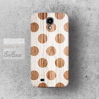 Polka dot Wood white,  Samsung Galaxy S4 3D-sublimated Unique design iPhone 4/4S case iPhone 5/5S case.