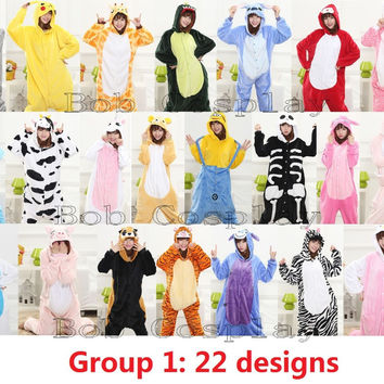 Funny adult animal Onesuits pajamas for adults women pajama mens pajamas unicorn pokemon pikachu stitch totoro Onesuit Group 1
