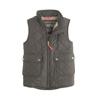 Girls' excursion quilted vest - puffer - Girl's outerwear - J.Crew
