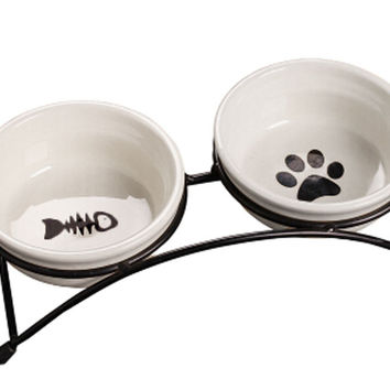 Pet Feeding Supplies Ceramic Water Bowls/Raised Bowls/Cat or Dog Food Bowl(#13)