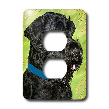3dRose lsp_4411_6 Black Russian Terrier 2 Plug Outlet Cover