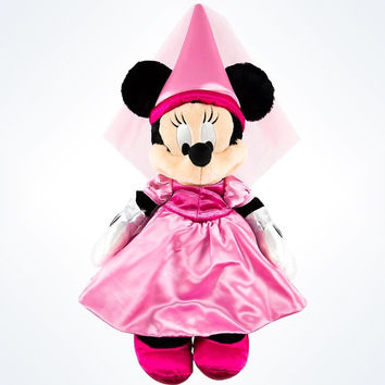 "Disney Parks Authentic Minnie Mouse Princess 15"" Plush New With Tags"