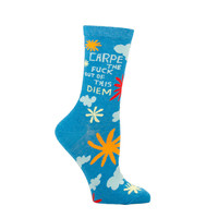 Blue Q Carpe Diem Socks