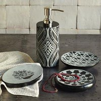 Black Marble Bath Accessories | west elm