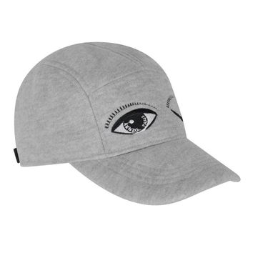 Unisex Grey 'Eye' Cap