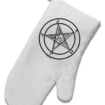 Sigil of Baphomet White Printed Fabric Oven Mitt by TooLoud