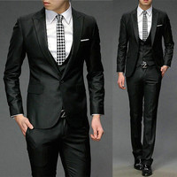 Luxury Men Slim Fit Three Pieces Suit Set