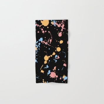 Spatter Hand & Bath Towel by duckyb