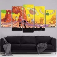 Rick and Morty Tree Sky Poster Wall Art Painting Modern Home Decor