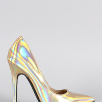 Hologram Pointy Toe Single Sole Stiletto Pump