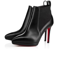 Crochinetta 100 Black Leather - Women Shoes - Christian Louboutin