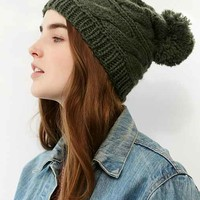 The North Face Triple Cable Pompom Beanie