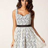 Lace Contrast Dress, Little Mistress
