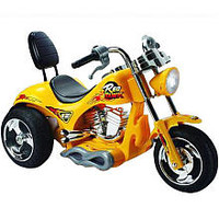 Red Hawk 12 Volt Motorcycle - Yellow