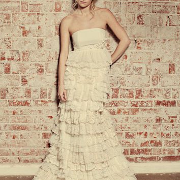 Layered Wedding Gown - The Flora Gown - Made to Order