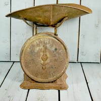 Rustic General Store Scale , Cast Iron and Black , 24 pounds and Working