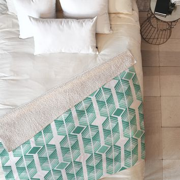 Heather Dutton De Lux Mint Fleece Throw Blanket