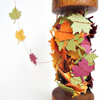 Fall Leaves - Paper Garland - Thanksgiving - Autumn - Home Decor