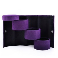 Aspire Cylindrical Jewelry Box / Jewelry Organizer for Travel - Purple, Gift Idea
