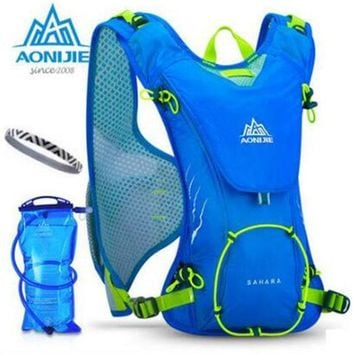 DKF4S AONIJIE Outdoor Trail Running Marathon Hydration Backpack Lightweight  Hiking Bag With+ 1.5L Hydration Water Bag for Men Women