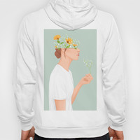 Flower Head Hoody by marylobs