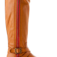 ROUTE 66 RED ZIPPER BOOT