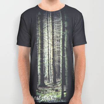 Forest feelings All Over Print Shirt by HappyMelvin | Society6
