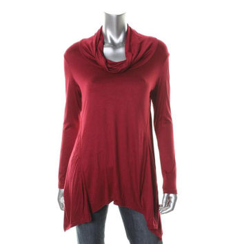Kim & Cami Womens Solid 3/4 Sleeves Casual Top