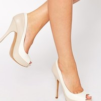 ALDO Adrenasa Peep Toe Platform Court Shoes