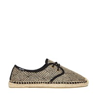 Soludos Derby Lace Up Handshake Raffia Lace up Espadrille Flat Shoes