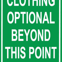 Clothing Optional Beyond This Point Tin Sign at AllPosters.com