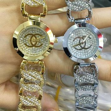 CHANEL Ladies Stylish Diamond Exquisite Small Watch Watch Wrist I-YF-GZYFBY