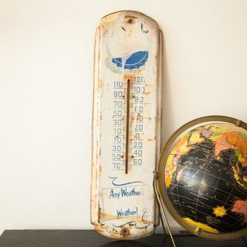 Vintage Rusted Pepsi Thermometer Any Weathers Pepsi Weather