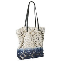Mossimo Supply Co. Crochet Tote Handbag - Blue/White