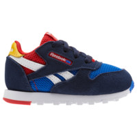 Reebok Classic Leather - Boys' Toddler - Casual Running Sneakers - Casual - Shoes - Boys' Toddler - Reebok - Collegiate Navy/Vital Blue | Classic Leather 90's | Kids Foot Locker