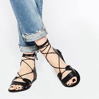 ASOS | ASOS FUERTA Lace Up Leather Sandals at ASOS
