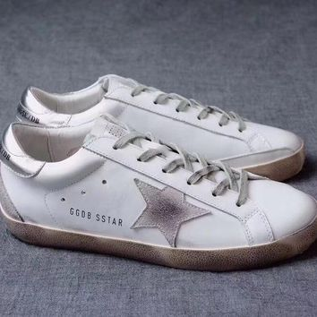 GGDB / Golden Goose Deluxe Brand Uomo / Donna Superstar Silver Sneakers