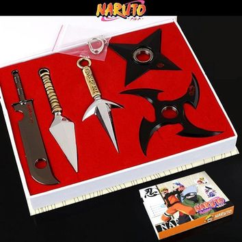 Naruto Sasauke ninja Around , there is no set of 5 sets of boxed  molds, cartoon export COS props AT_81_8