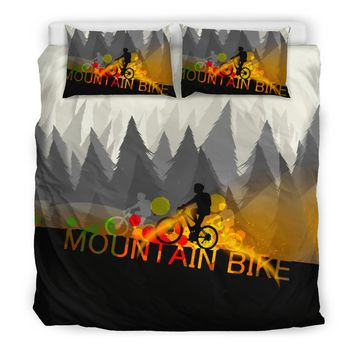 Mountain Bike Bedding Set | Bike Lover Bedding Twin/ Queen/ King Size
