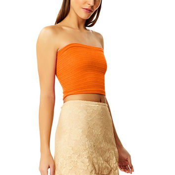 Orange Crush Cotton Tube Top