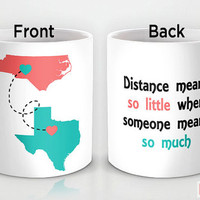 Custom PinkMugNY design coffee mug - Long Distance Relationship