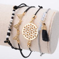 Black Bohemia Rope Bracelet Pack