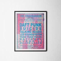 Dream Concert Poster, Music Poster, Daft Punk Suicide, Talking Heads, LCD Soundsystem, Yeah Yeah Yeahs, National, Major Lazer, 300dpi