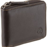 Timberland Men's Block Island Zip Around Wallet, Brown, One Size