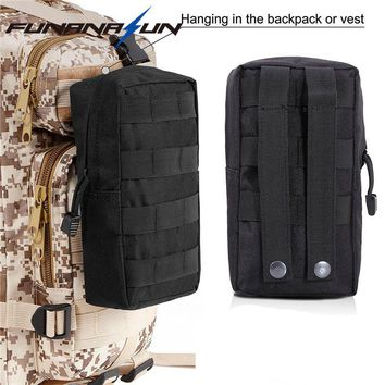 Tactical EDC Vest Molle Bag 600D Nylon Airsoft Utility Pouch Outdoor Hunting Paintball Shooting Tool Organizer Waist Pack