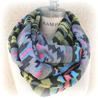 Tribal Print Scarf  Aztec Scarf  Best Selling Item Popular Shop Items Gifts- By PiYOYO